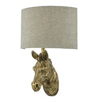 Abby Gold Zebra Wall Light (with Shade)